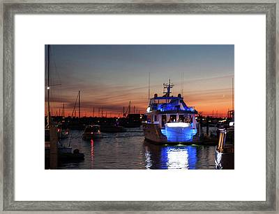 Framed Print featuring the photograph An Evening In Newport Rhode Island II by Suzanne Gaff