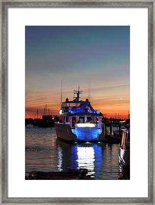 Framed Print featuring the photograph An Evening In Newport Rhode Island IIi by Suzanne Gaff