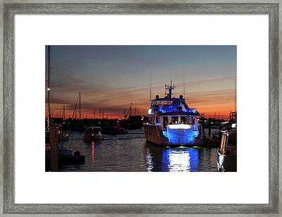 Framed Print featuring the photograph An Evening In Newport Rhode Island Iv by Suzanne Gaff