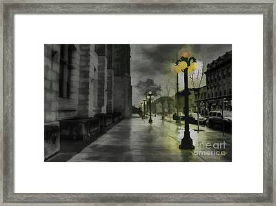 Framed Print featuring the mixed media An Evening In Paris by Jim  Hatch