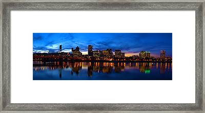 An Evening In Portland Framed Print