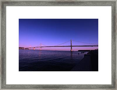 An Evening In San Francisco  Framed Print