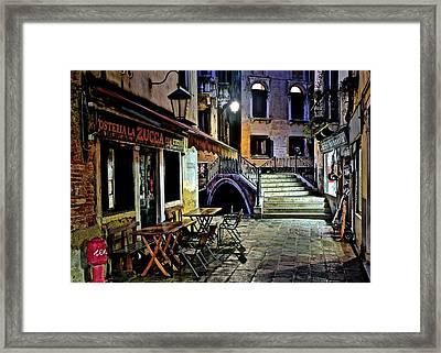 Evening Falls Upon Venice Framed Print by Frozen in Time Fine Art Photography