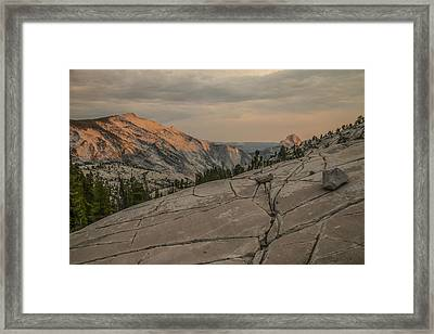 An Evening On Olmstead Point - Pt 1 Framed Print