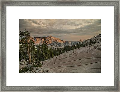 An Evening On Olmstead Point - Pt 2 Framed Print