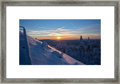 an evening on the Achtermann, Harz Framed Print