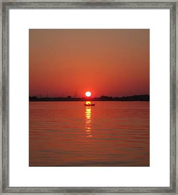 An Evening Row Framed Print
