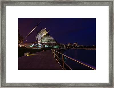 An Evening Stroll At The Calatrava Framed Print