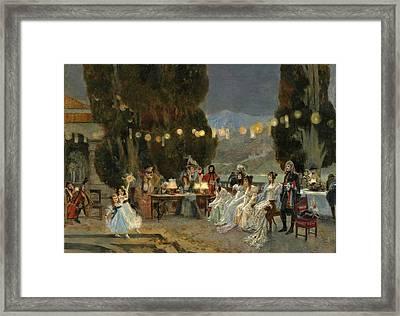An Evening's Entertainment For Josephine Framed Print