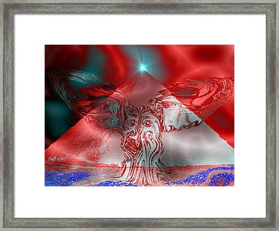 An Exorcism Of Secret Societies Framed Print by Abstract Angel Artist Stephen K