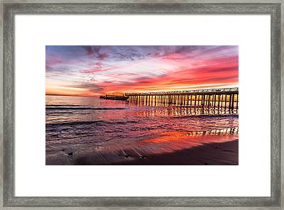 Seacliff Sunset Framed Print by Lora Lee Chapman