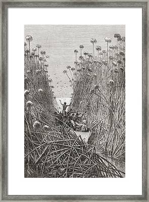 An Expedition Navigating The Lakes Of Framed Print
