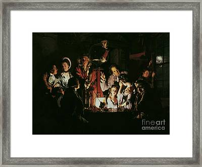 An Experiment On A Bird In The Air Pump Framed Print by Joseph Wright of Derby