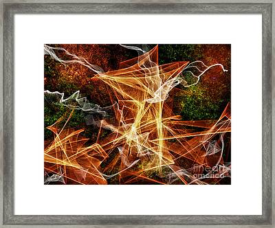 An Explosion Of Colors Framed Print by Jim Fitzpatrick