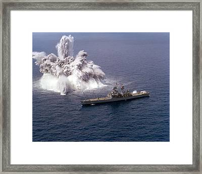 An Explosive Charge Is Detonated Framed Print