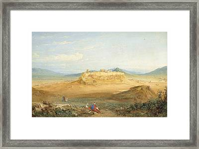 An Extensive View Of The Acropolis And Athens Framed Print by MotionAge Designs