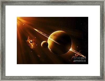 An Extraterrestrial Spacecraft Framed Print by Kevin Lafin