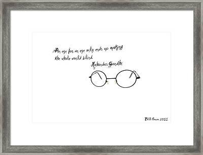 An Eye For An Eye Framed Print by Bill Cannon