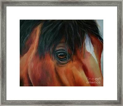 An Eye For Beauty Framed Print