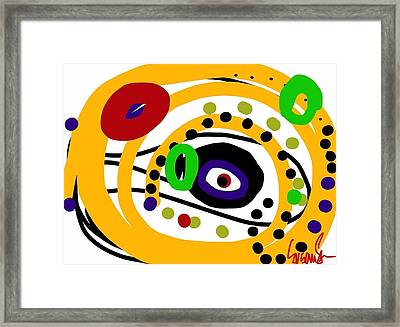 An Eye On You Framed Print