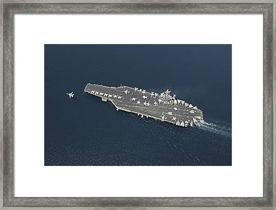 An F-14b Tomcat Launches Off Uss George Framed Print