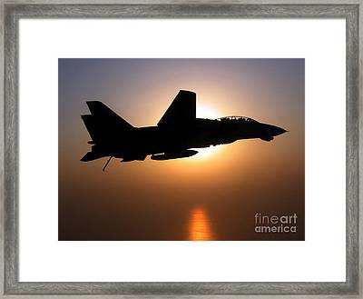 An F-14d Tomcat In Flight Framed Print by Stocktrek Images