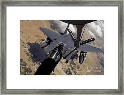 An F-15 Strike Eagle Prepares Framed Print