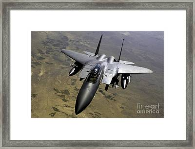 An F-15e Strike Eagle Aircraft Framed Print by Stocktrek Images
