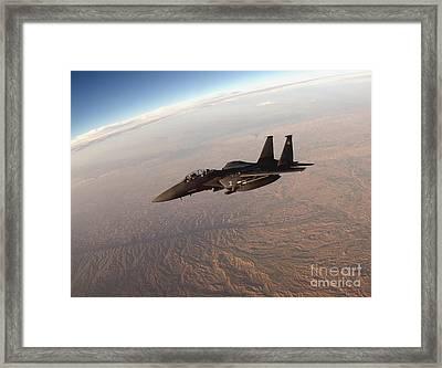 An F-15e Strike Eagle Breaks Away Framed Print