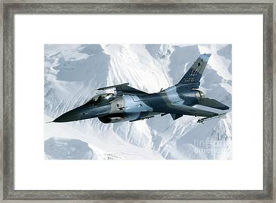 An F-16 Aggressor Disconnectsfrom Framed Print by Stocktrek Images