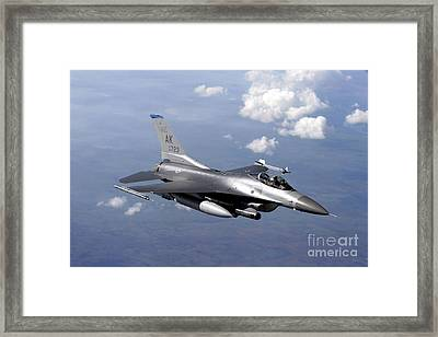 An F-16 Fighting Falcon Prepares Framed Print by Stocktrek Images