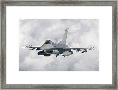 An F-16 From The Colorado Air National Framed Print
