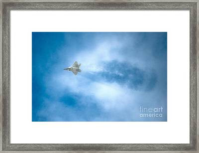An F-22 Raptor Framed Print by Celestial Images