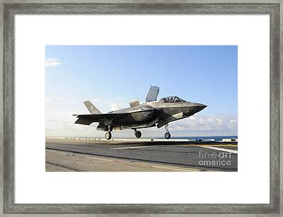 An F-35b Lightning II Lifts Framed Print by Stocktrek Images