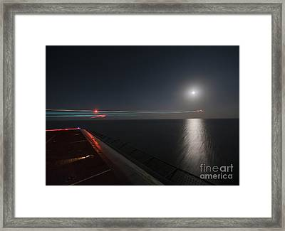 An F A-18 Hornet Launches. Framed Print by Celestial Images