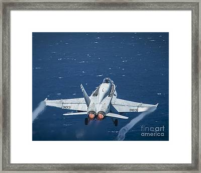 An F A-18c Super Hornet Framed Print by Celestial Images