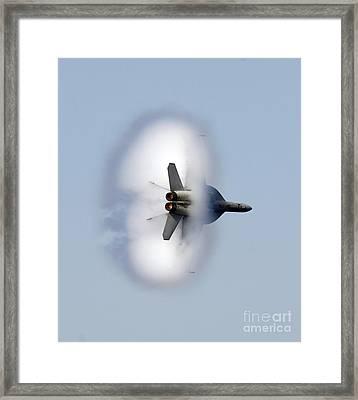An Fa-18f Super Hornet Completes Framed Print