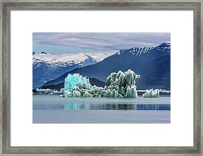 An Iceberg In The Inside Passage Of Alaska Framed Print