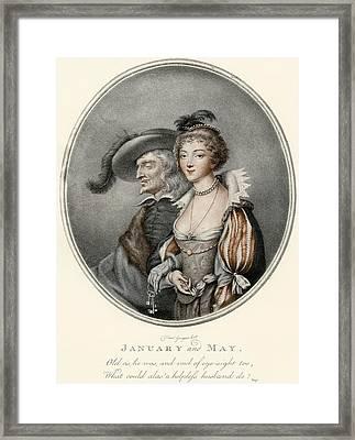 An Illustration Depicting The Old Framed Print by Vintage Design Pics