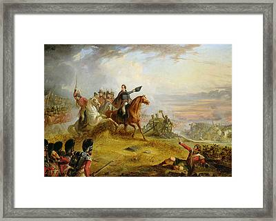 An Incident At The Battle Of Waterloo Framed Print by Thomas Jones Barker