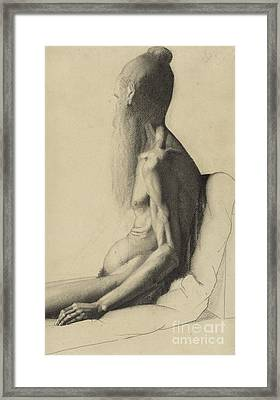 An Indian Man Framed Print by Georges Pierre Seurat