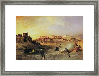 An Indian Pueblo Framed Print