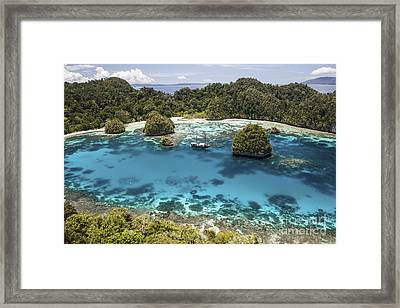 An Indonesian Pinisi Schooner Framed Print