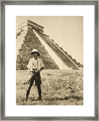 An Informal Portrait Of Photographer Framed Print