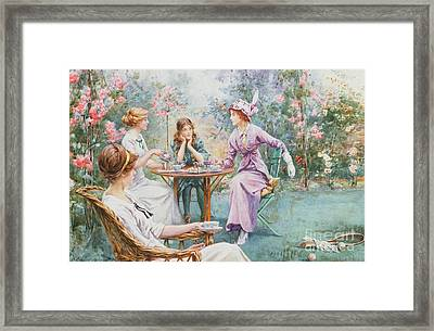 An Interested Audience Framed Print