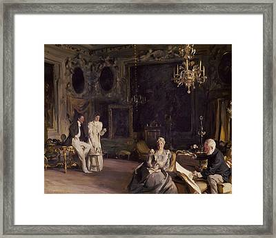 An Interior In Venice Framed Print by John Singer Sargent