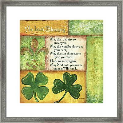 An Irish Blessing Framed Print by Debbie DeWitt