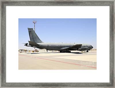An Israeli Air Force Boeing 707 Reem Framed Print by Riccardo Niccoli