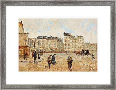 An Italian Piazza Framed Print by Celestial Images