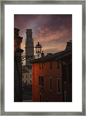 An Italian Sunset Framed Print
